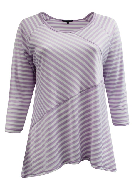 Light Purple Asymmetrical Stripes - orangeshine.com