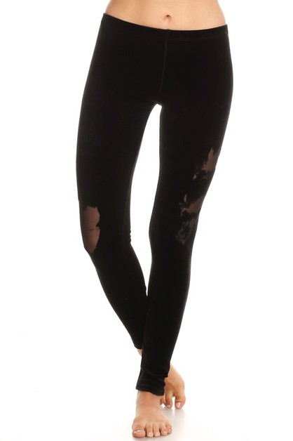 NATURAL BURN OUT DETAIL LEGGING - orangeshine.com