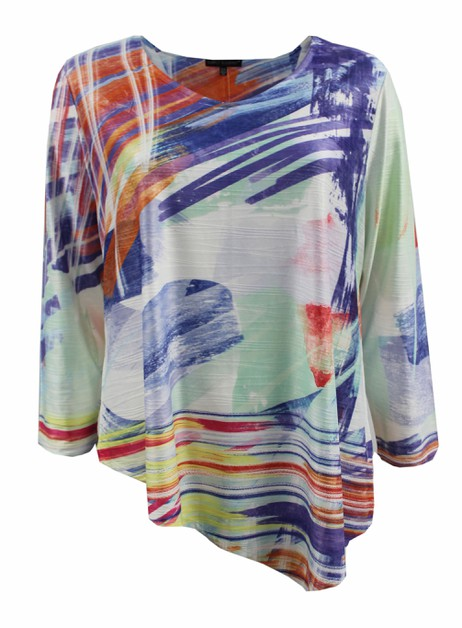 Multi Colored Abstract Long Sleeve  - orangeshine.com