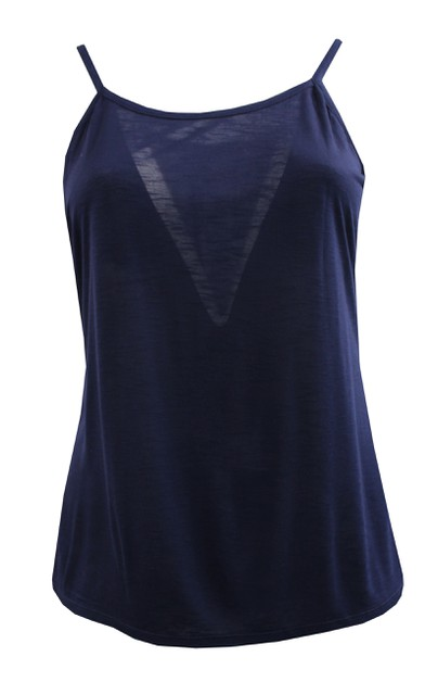 Navy Non Stretch Cami - orangeshine.com