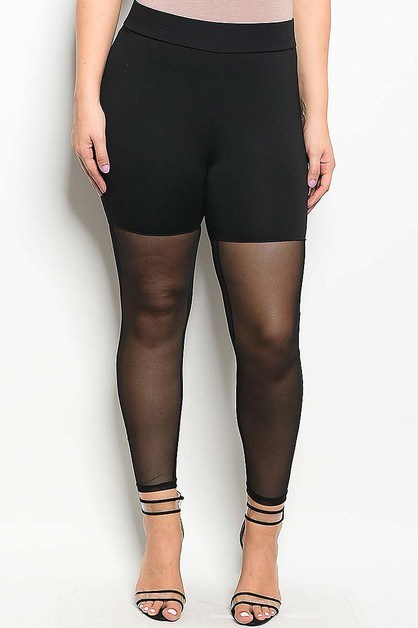 PLUS SIZE MESH PANTS  - orangeshine.com