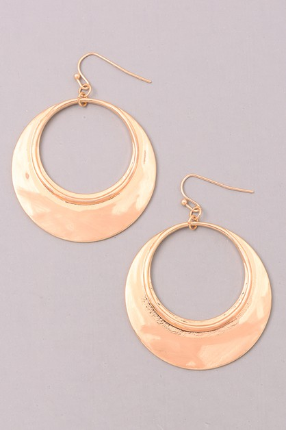 PARTIALLY BRUSHED DANGLE EARRINGS - orangeshine.com