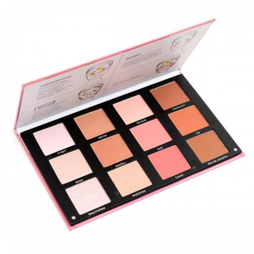 Blush Highlighter Countour Palette - orangeshine.com