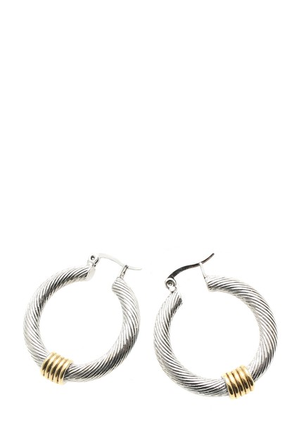 CZ HOOP EARRINGS - orangeshine.com