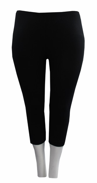 Cropped Black Leggings - orangeshine.com