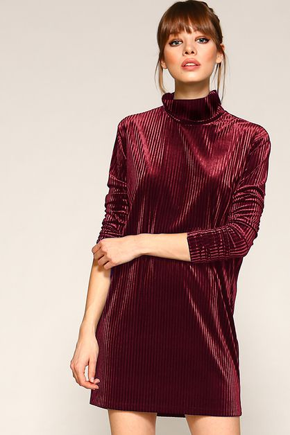 Turtle Neck Holiday Dress - orangeshine.com