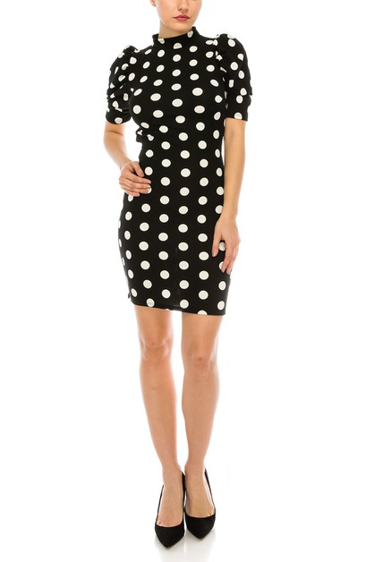 Polka dot sexy dress - orangeshine.com