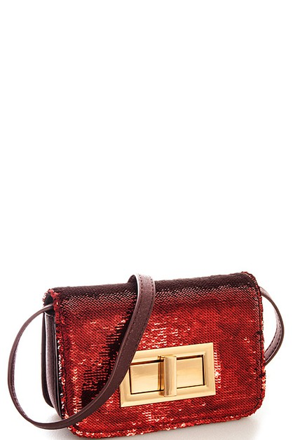 Street Level Sparkling Crossbody  - orangeshine.com