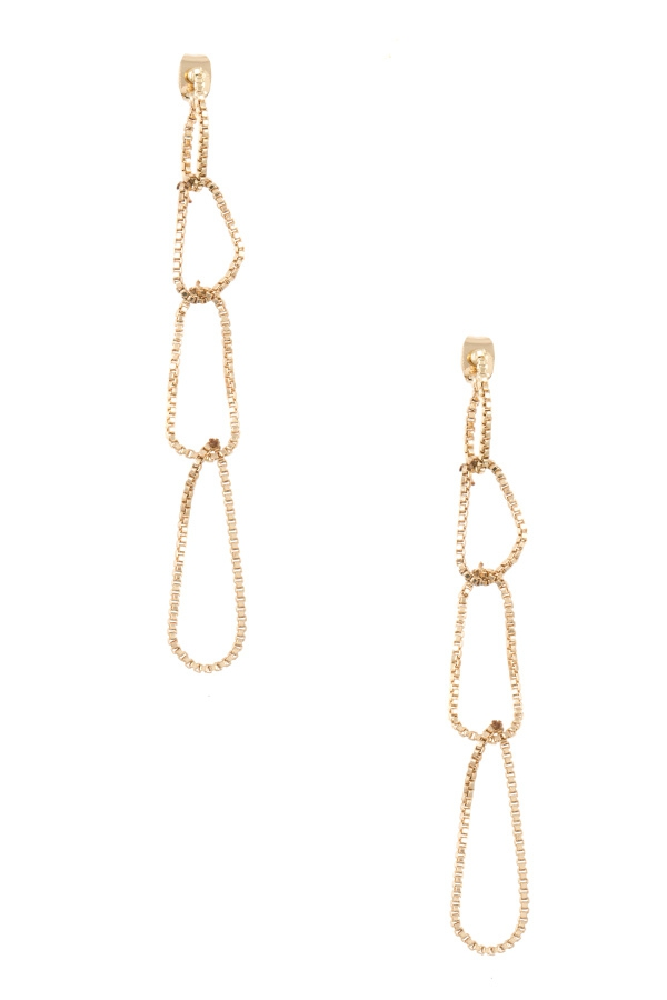 Detachable Loop Box Chain Earring - orangeshine.com