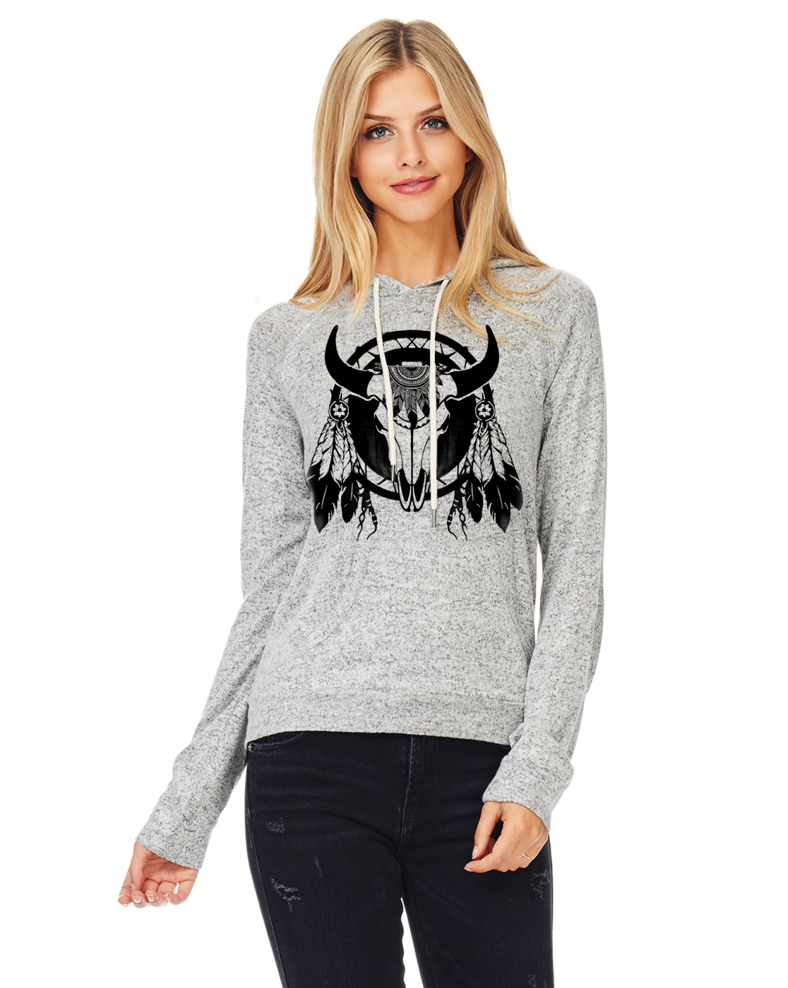 Taurus Hooded drawstring sweater C - orangeshine.com