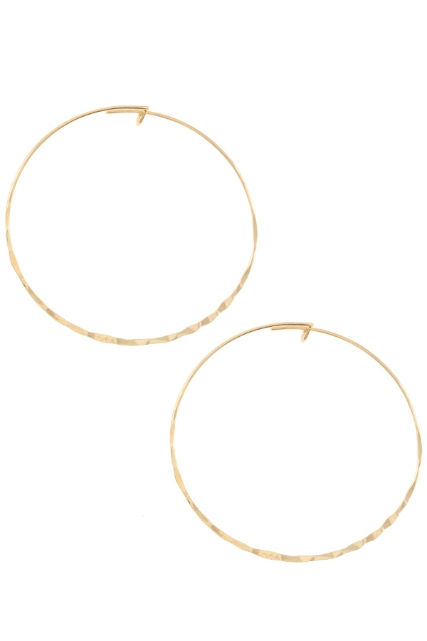 Twisted Hoop Earring  - orangeshine.com