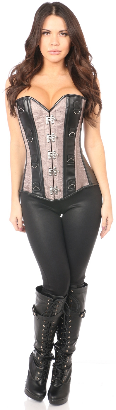 Steel Boned Brocade Corset - orangeshine.com