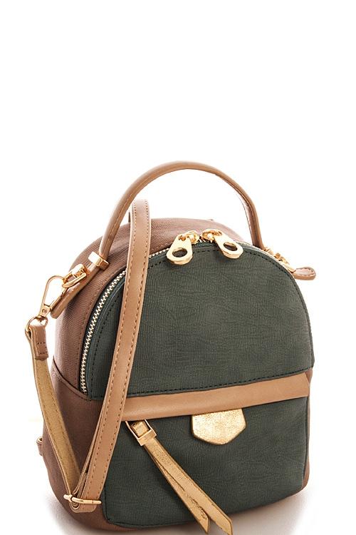 Alba Cute Convertible Backpack Orangeshine