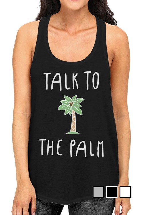 JTT260XX Talk To The Palm Tank Top - orangeshine.com