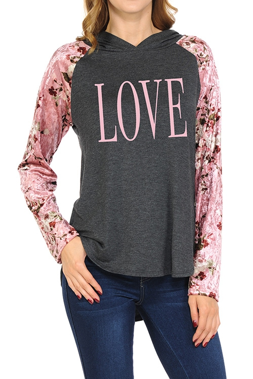 LOVE VALENTINES DAY  GRAPHIC  TOP - orangeshine.com