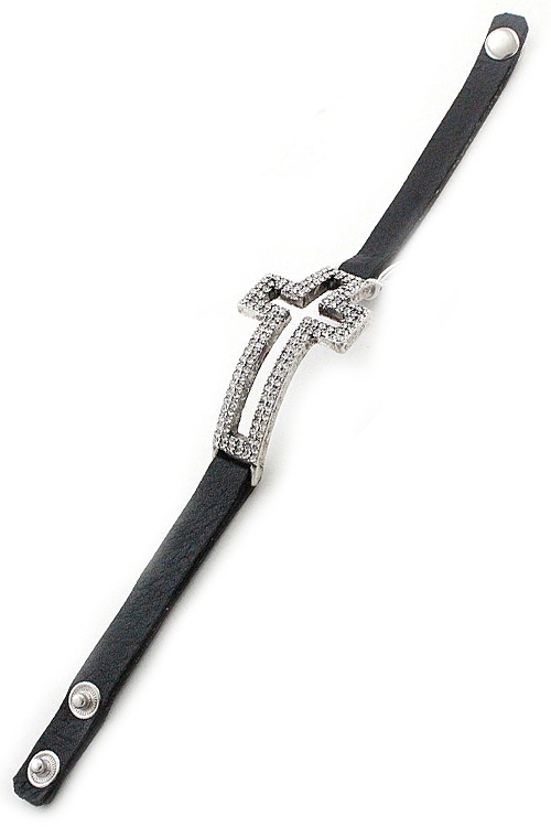 Leather Adjustable Bracelet - orangeshine.com