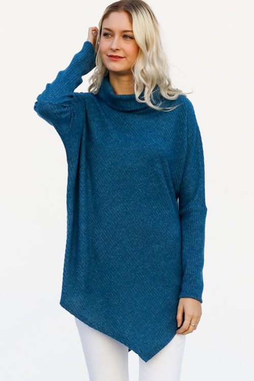 Long sleeve turtle neck casual top - orangeshine.com