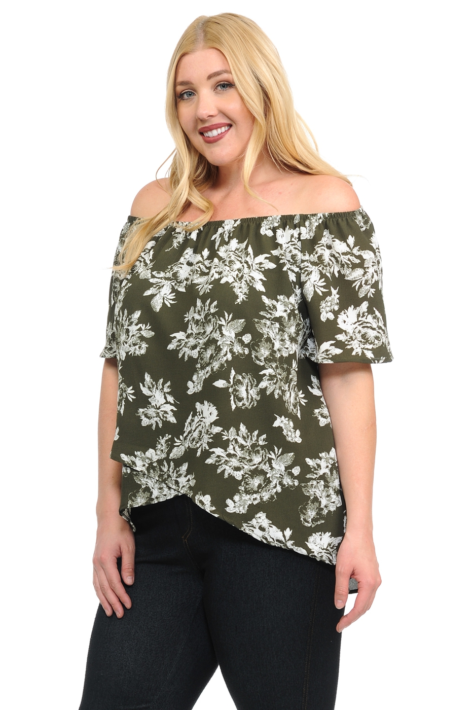 New Floral  Off Shoulder Tulip Top - orangeshine.com