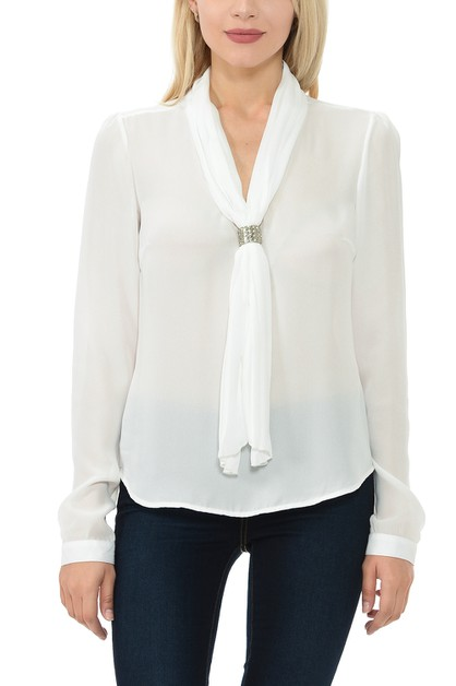 Womens V-Neck Long Sleeve Relaxed F - orangeshine.com