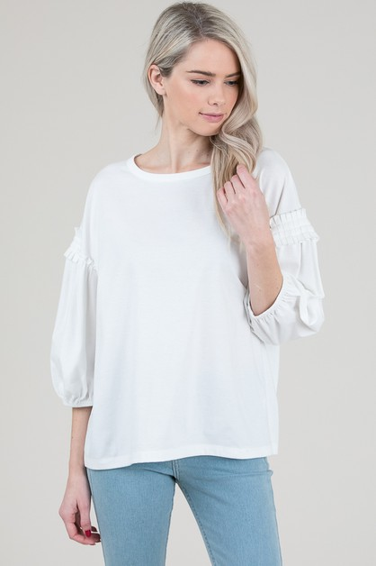 PUFF SLEEVE TOP - orangeshine.com