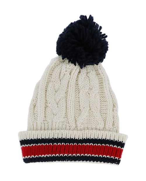 Knit Cream Beanie Hat - orangeshine.com