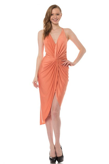 Slinky midi dress - orangeshine.com