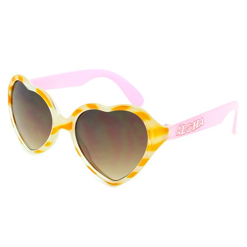 Hang Ten Kids Heart Sunglasses - orangeshine.com