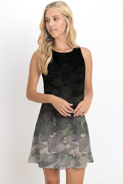 SLEEVELESS DRESS W PRINT - orangeshine.com