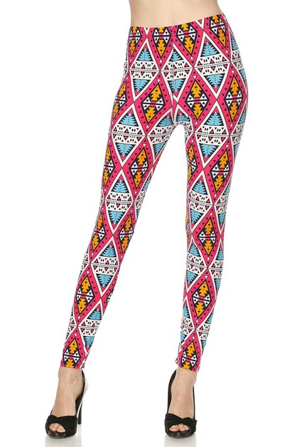 Fashion Printed Soft Brushed Legging - orangeshine.com