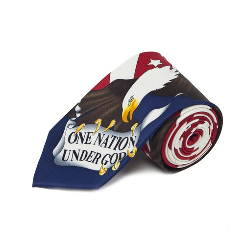 One Nation American Flag Novelty Tie - orangeshine.com