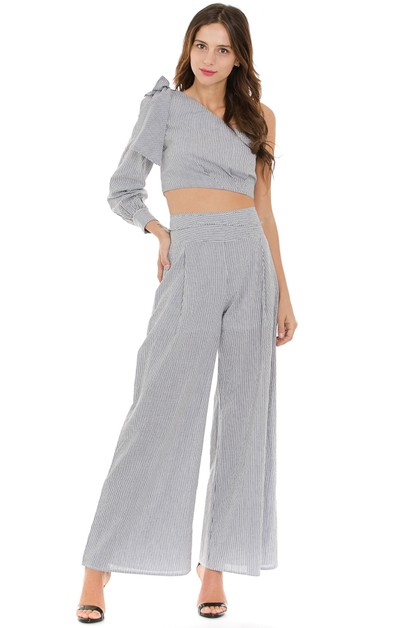 Wide Leg Pants Set - orangeshine.com