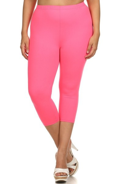 3XL to 5XL CAPRI LENGTH SOLID LEGGIN - orangeshine.com