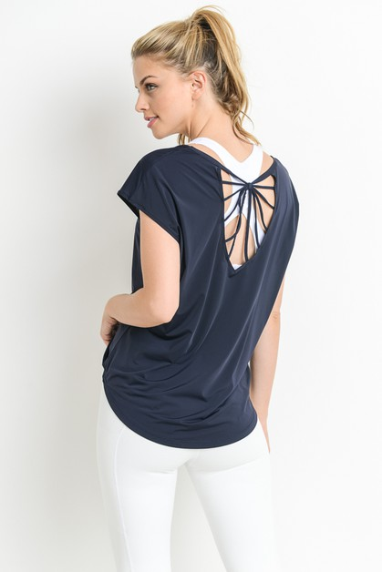 STRAPPY BACK ACCENT ACTIVE TOP - orangeshine.com