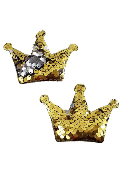 2-pc Mermaid Sequin Crown Hairclip - orangeshine.com