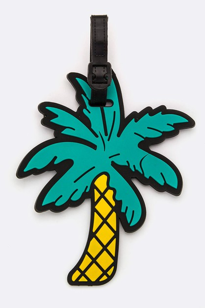 Palm Tree Jelly Bag and Luggage Tag - orangeshine.com