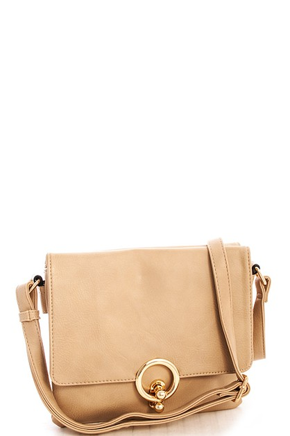 Chic Double Flap Crossbody Bag - orangeshine.com