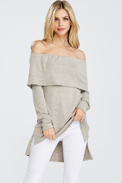 Off the Shoulder Sweater - orangeshine.com