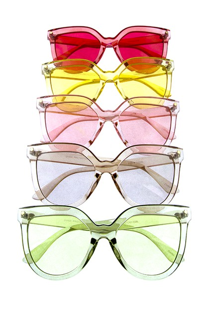 Modern Colorful Round Sunglasses - orangeshine.com