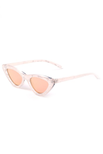 REFLECTIVE CAT EYE SUNGLASSES - orangeshine.com