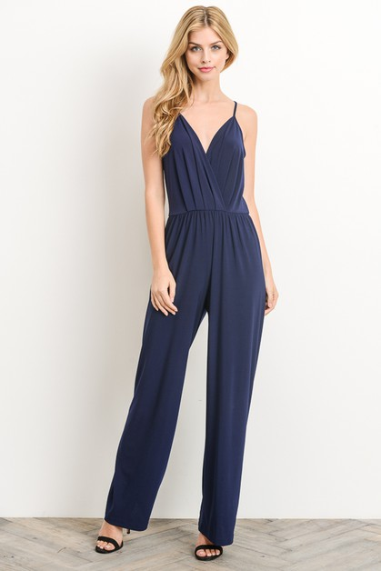 V Neck Jumpsuit - orangeshine.com
