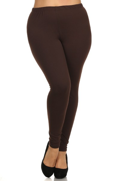 3XL to 5XL FULL LENGTH SOLID LEGGING - orangeshine.com