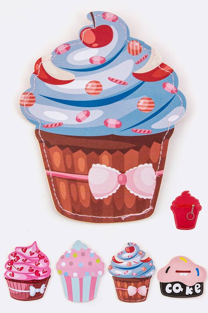 Assorted Cupcake Coin Purse - orangeshine.com