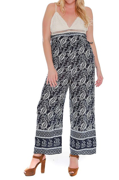 PAISLEY PRINT BOTTOMS PLUS JUMPSUIT  - orangeshine.com