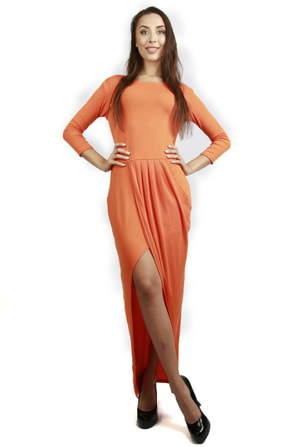 HIGH LOW CASUAL DRESS - orangeshine.com