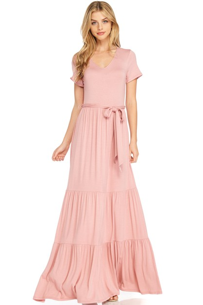 MAXI DRESS BOTTOM RUFFLE  - orangeshine.com