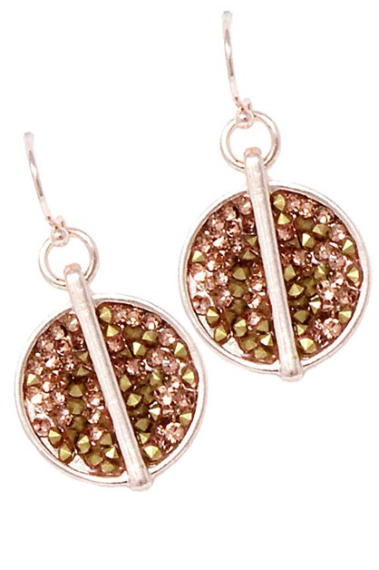 Metal Hook Earrings  - orangeshine.com
