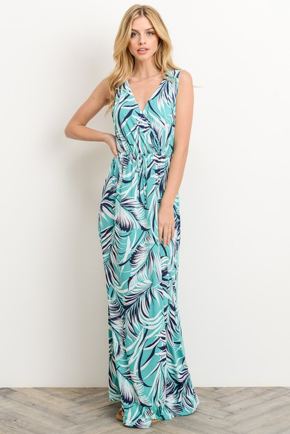 V-Neck Maxi Dress - orangeshine.com