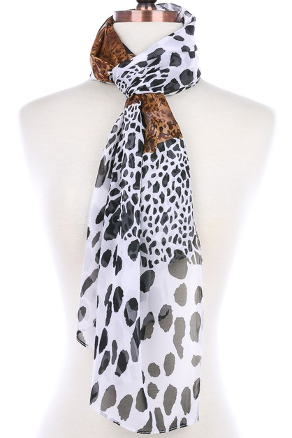 MIXED ANIMAL PRINT SCARF - orangeshine.com