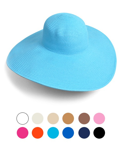 6pc Womens Brim Floppy Hat  - orangeshine.com