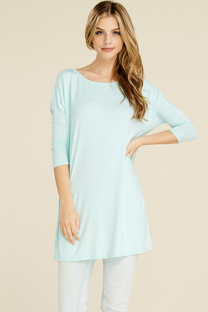 LOOSE FIT BASIC TUNIC DRESS - orangeshine.com